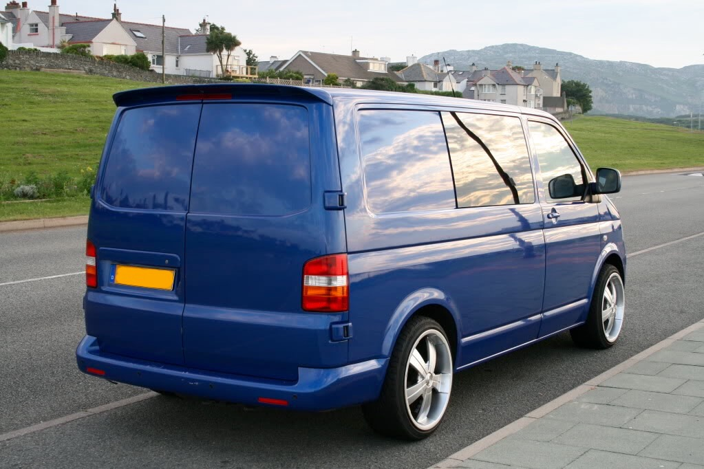 vw transporter t5 sportline spoiler 2005 2015 twin door imob auto. Black Bedroom Furniture Sets. Home Design Ideas
