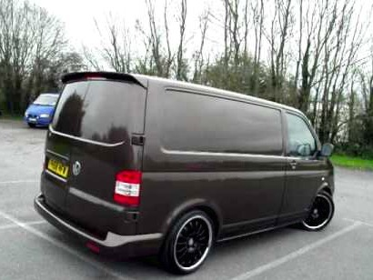 vw transporter t5 sportline spoiler 2005 2015 twin door. Black Bedroom Furniture Sets. Home Design Ideas