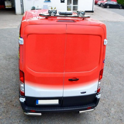 Ford Transit MK8 Chrome Roof Light Bar 2014 onwards