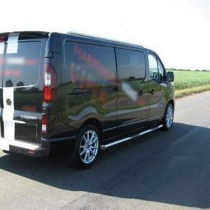 Nissan Primastar LWB Side Bars 2014 onwards