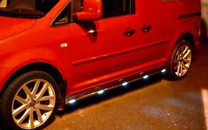 Peugeot Partner Stainless Steel Side Bars + LEDs