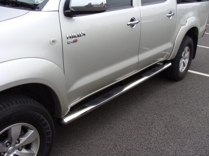 Toyota Hilux Stainless Steel Side Bar Steps 2005 - 2012